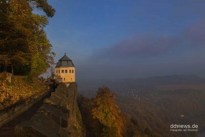 Friedrichsburg Festung Königstein im Herbst