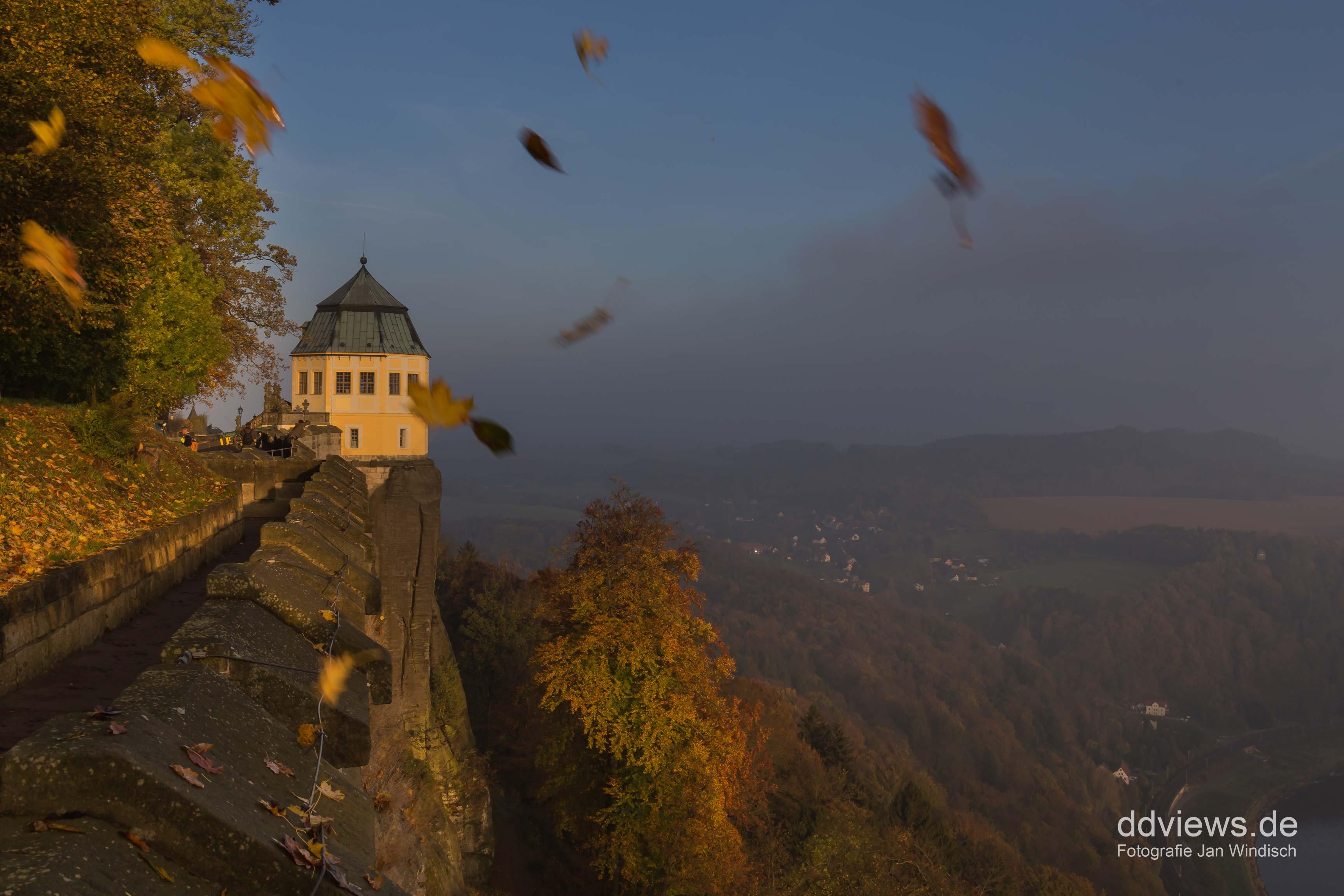 Friedrichsburg - Festung Königstein im Herbst