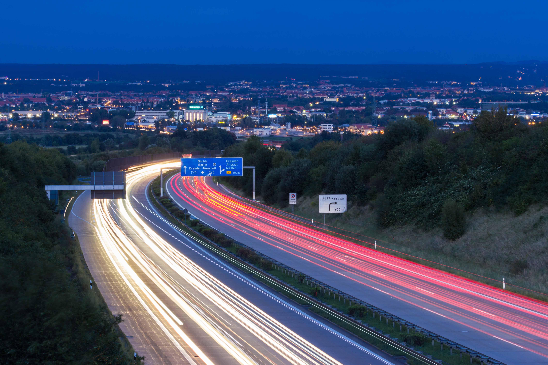Blick von der Autobahn Richtung Dresden