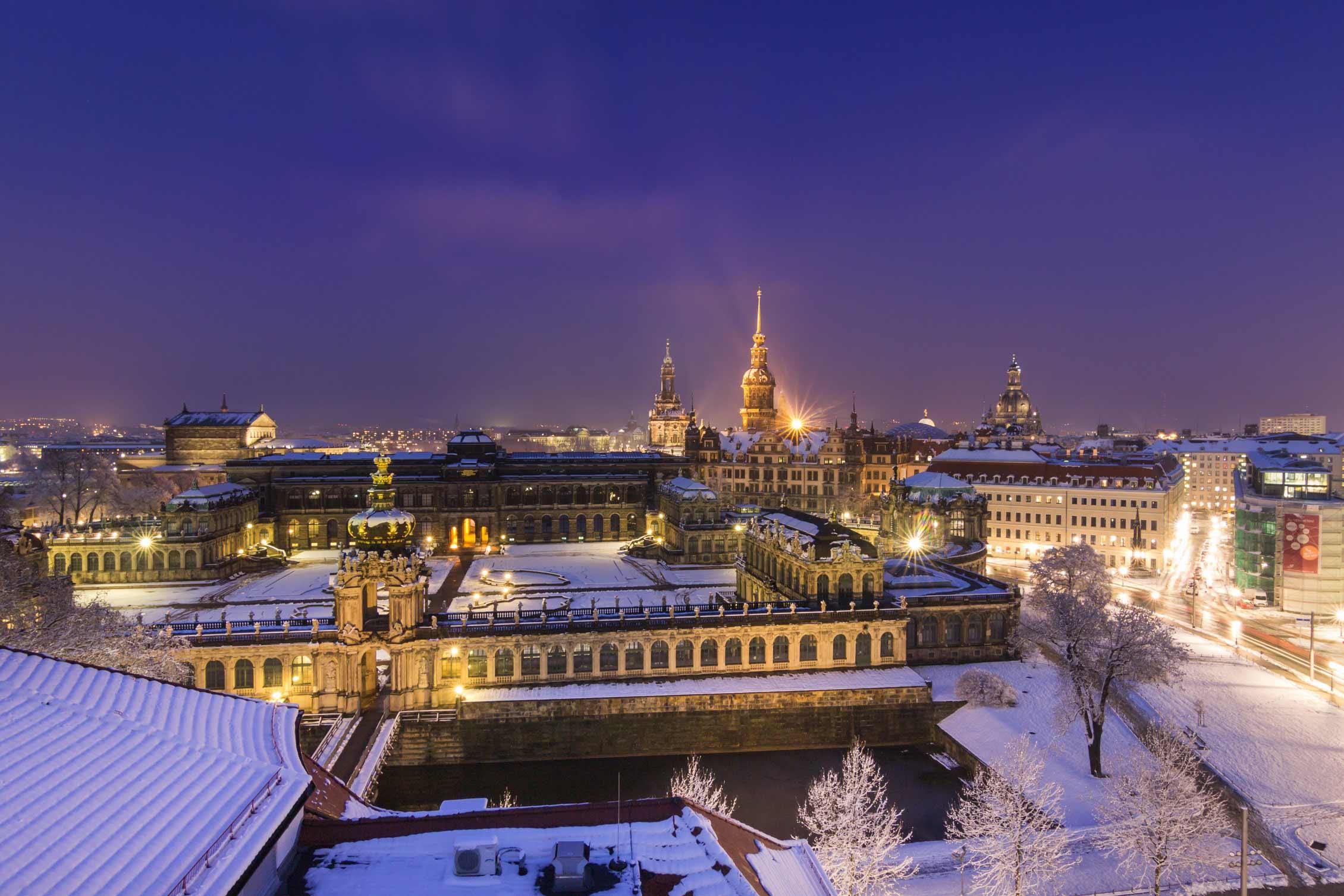 Dresdner Zwinger im Winter
