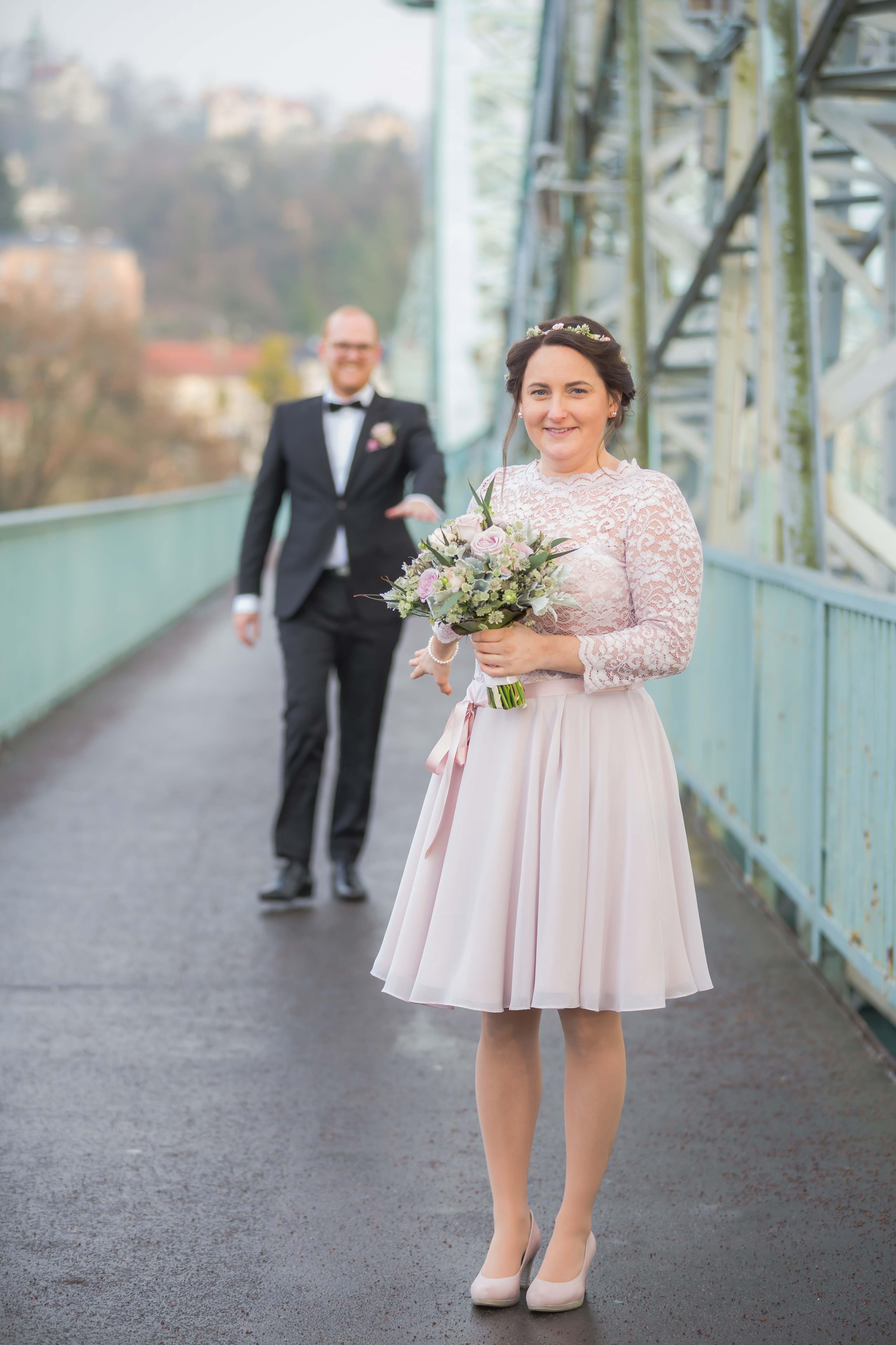 Hochzeit-Paar am Blauen Wunder | Dresden