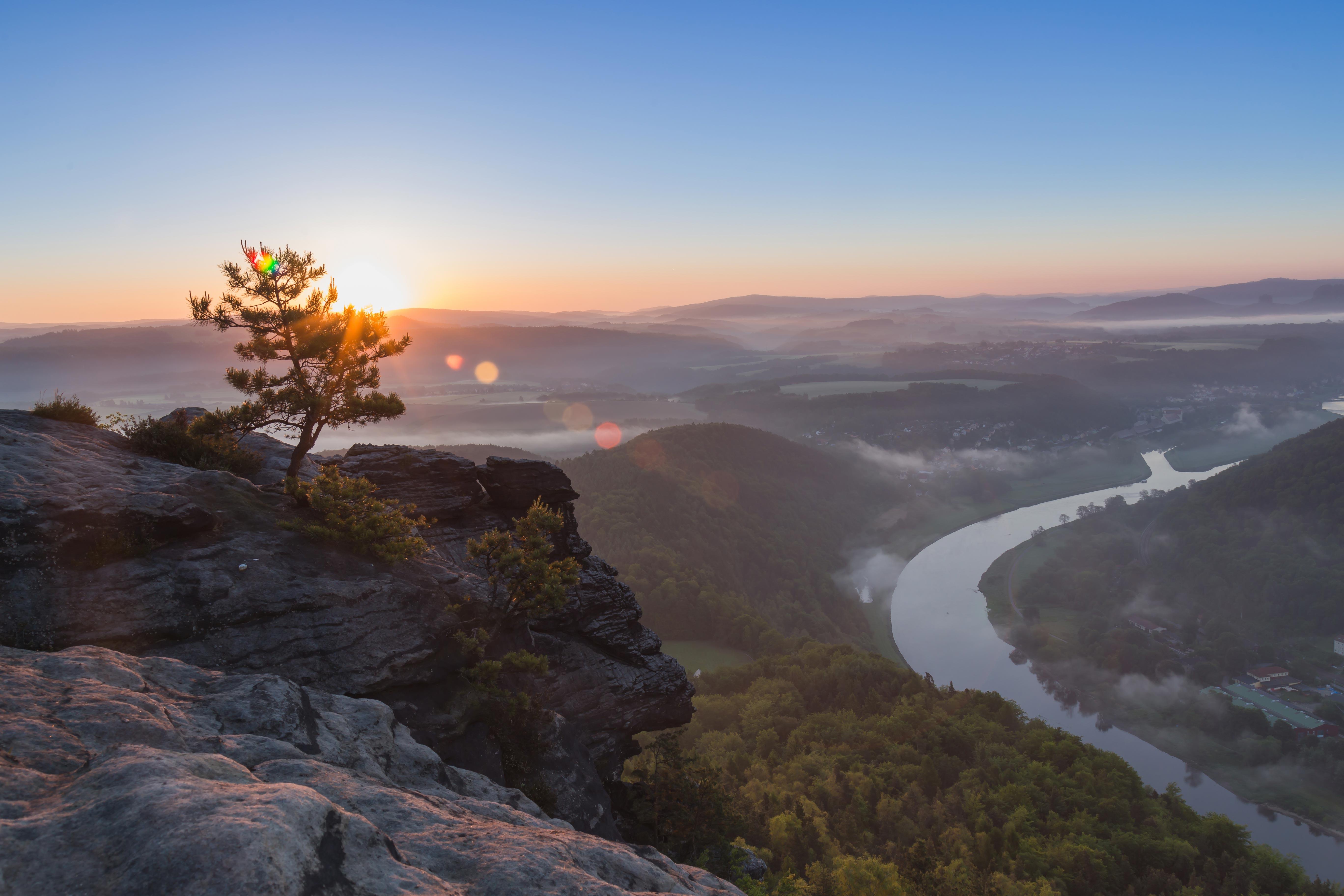 Sächsische Schweiz am Morgen