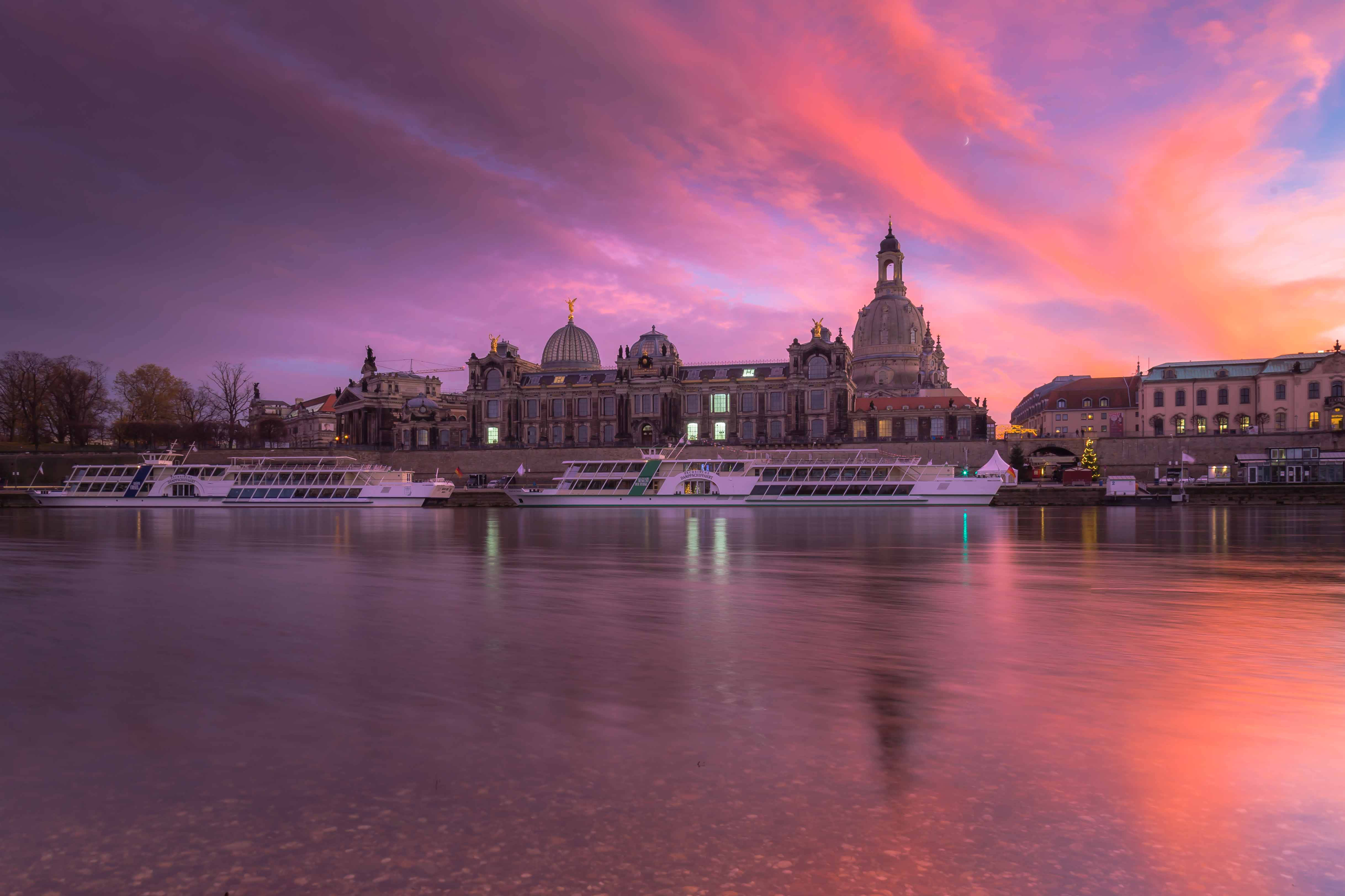 Dresden bei Sonnenaufgang