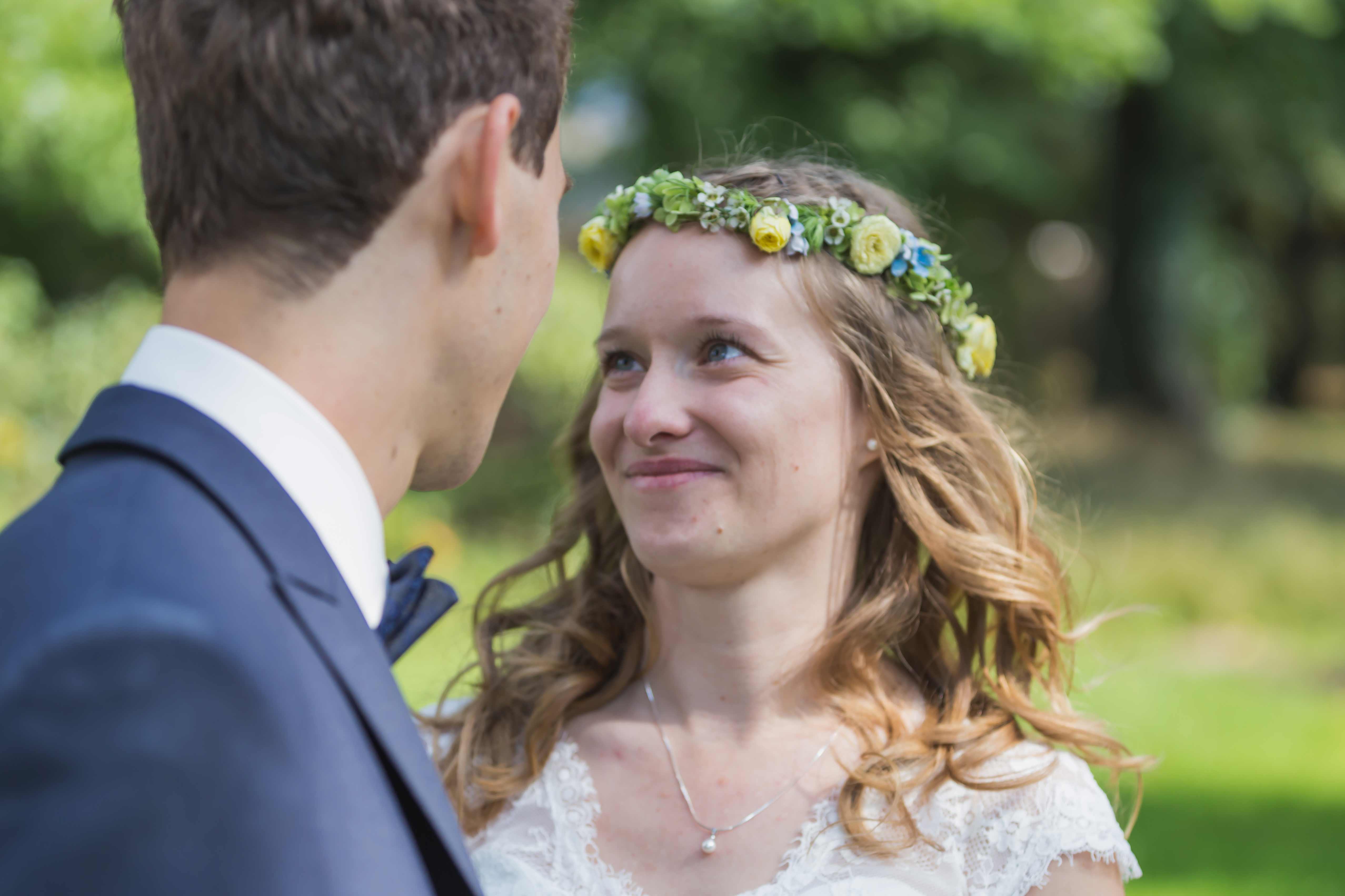 verliebt und glücklich - Brautpaar