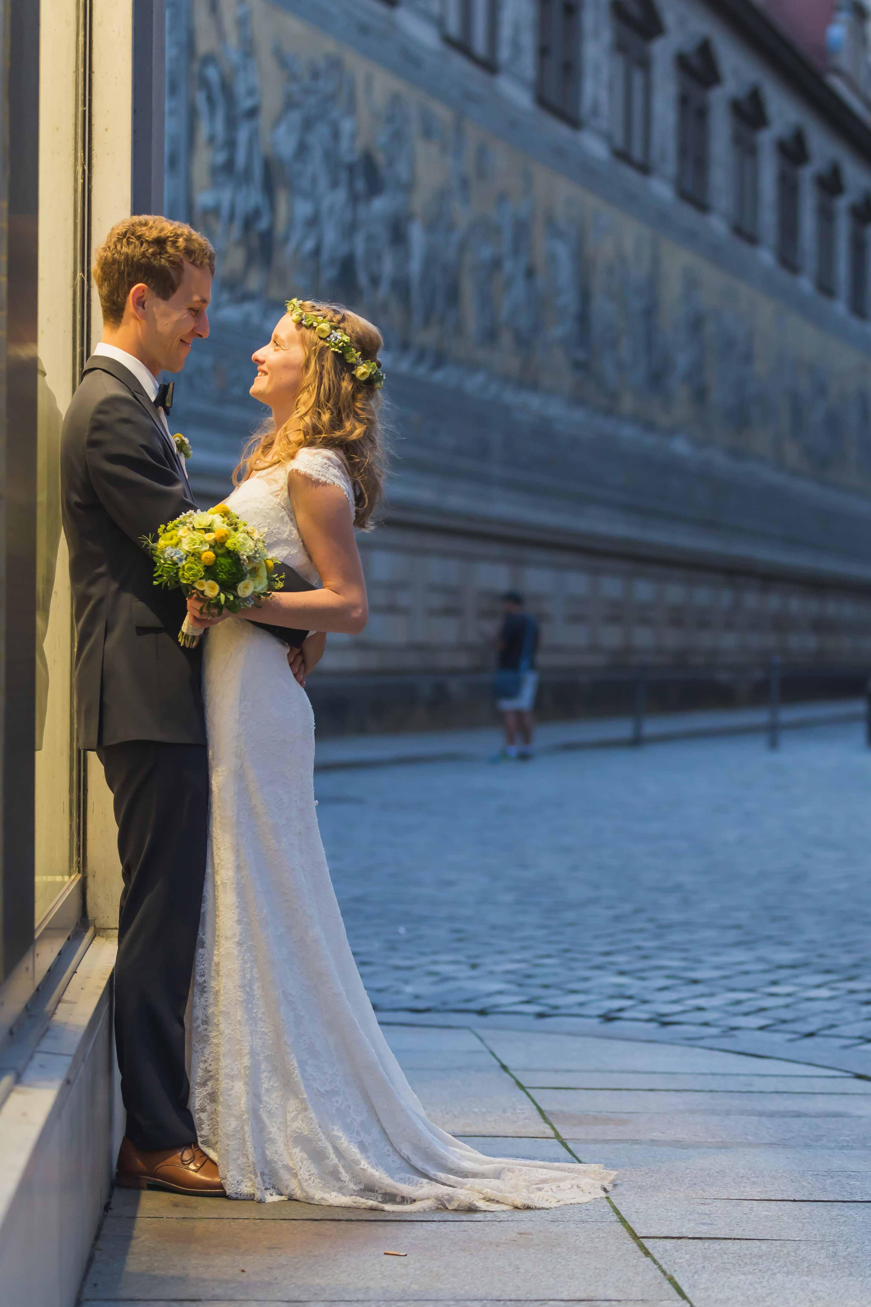 Fotoshooting Brautpaar in Dresden