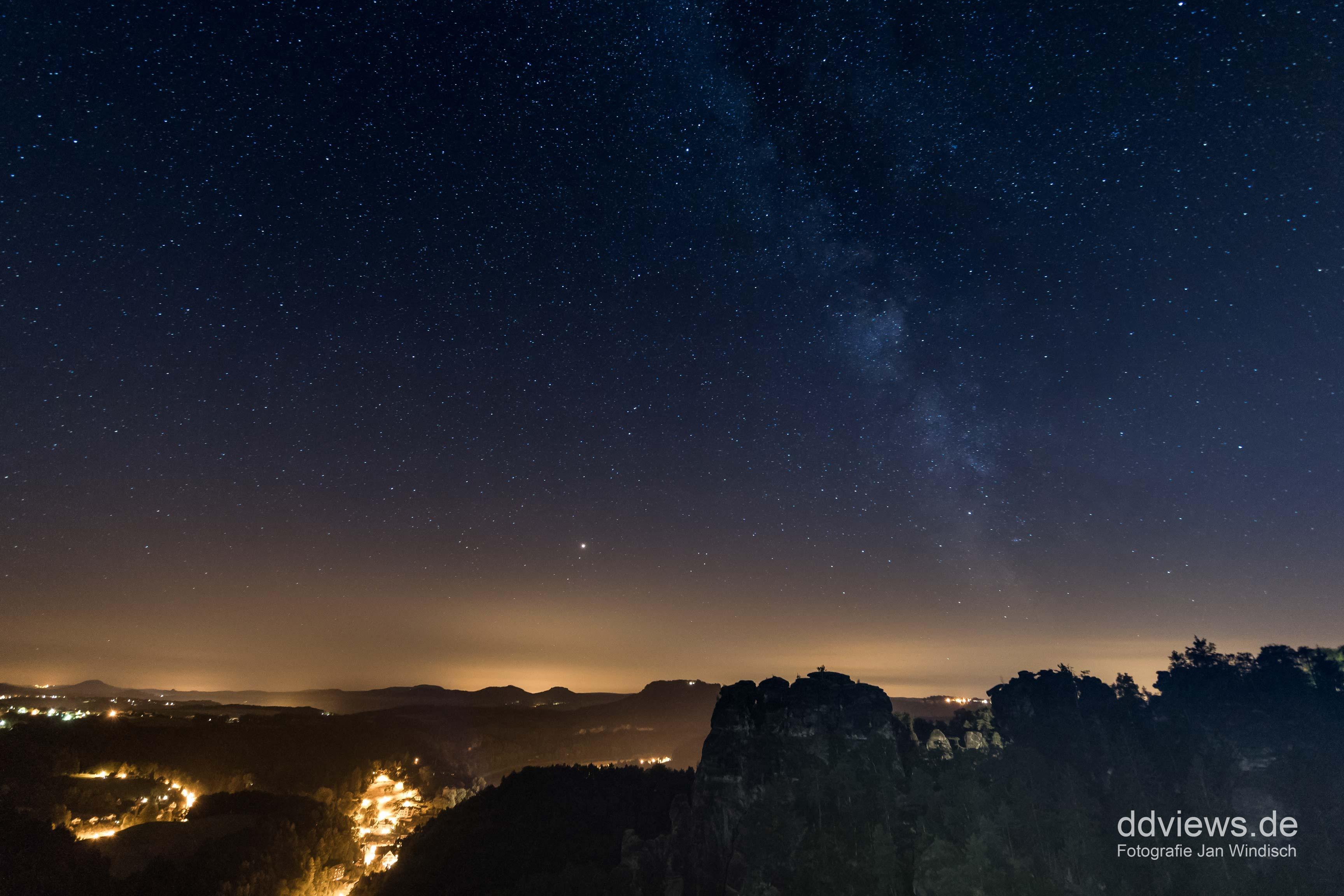 Sternenfotografie - Milchstraße an der Bastei