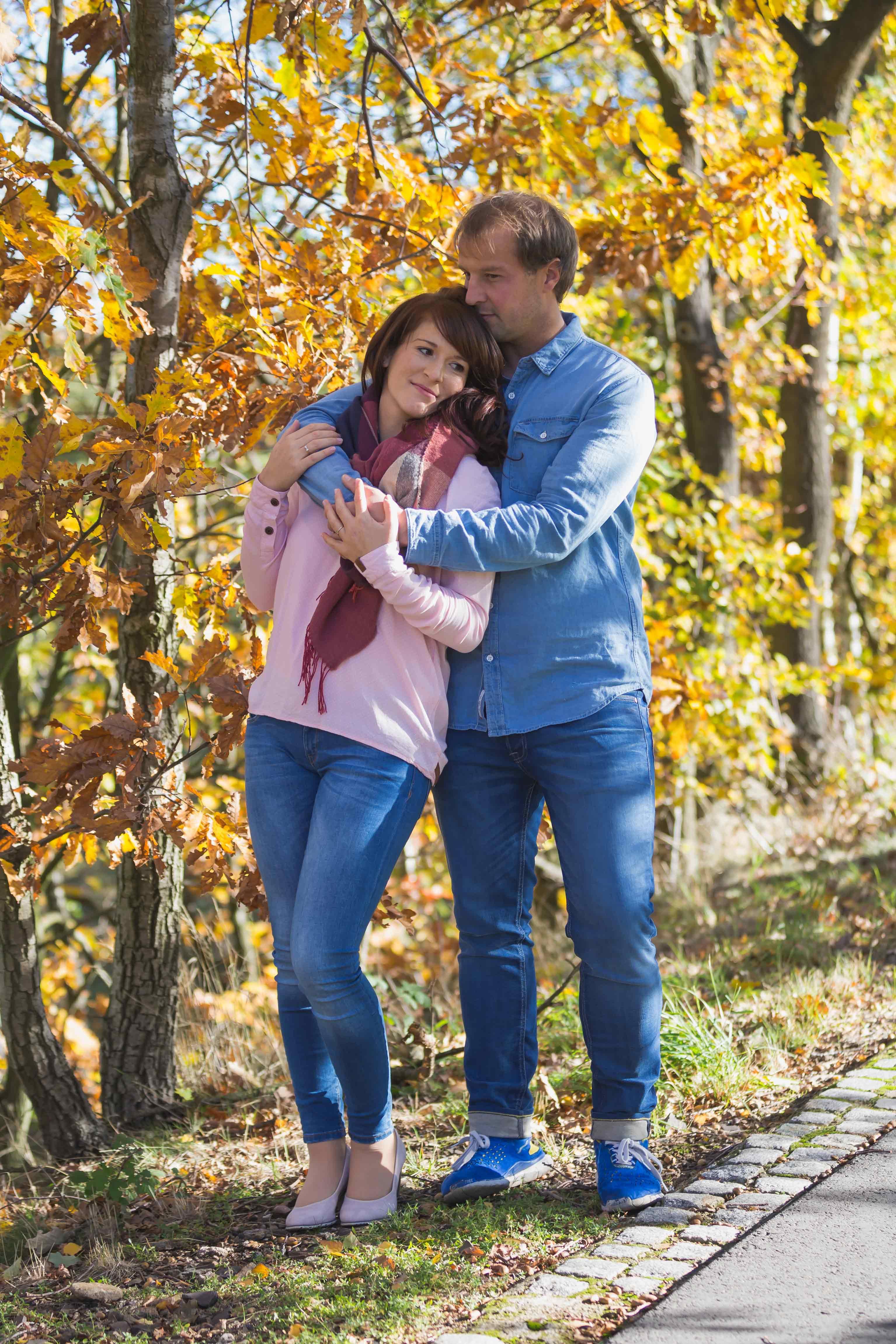 Paar Fotoshooting Herbst