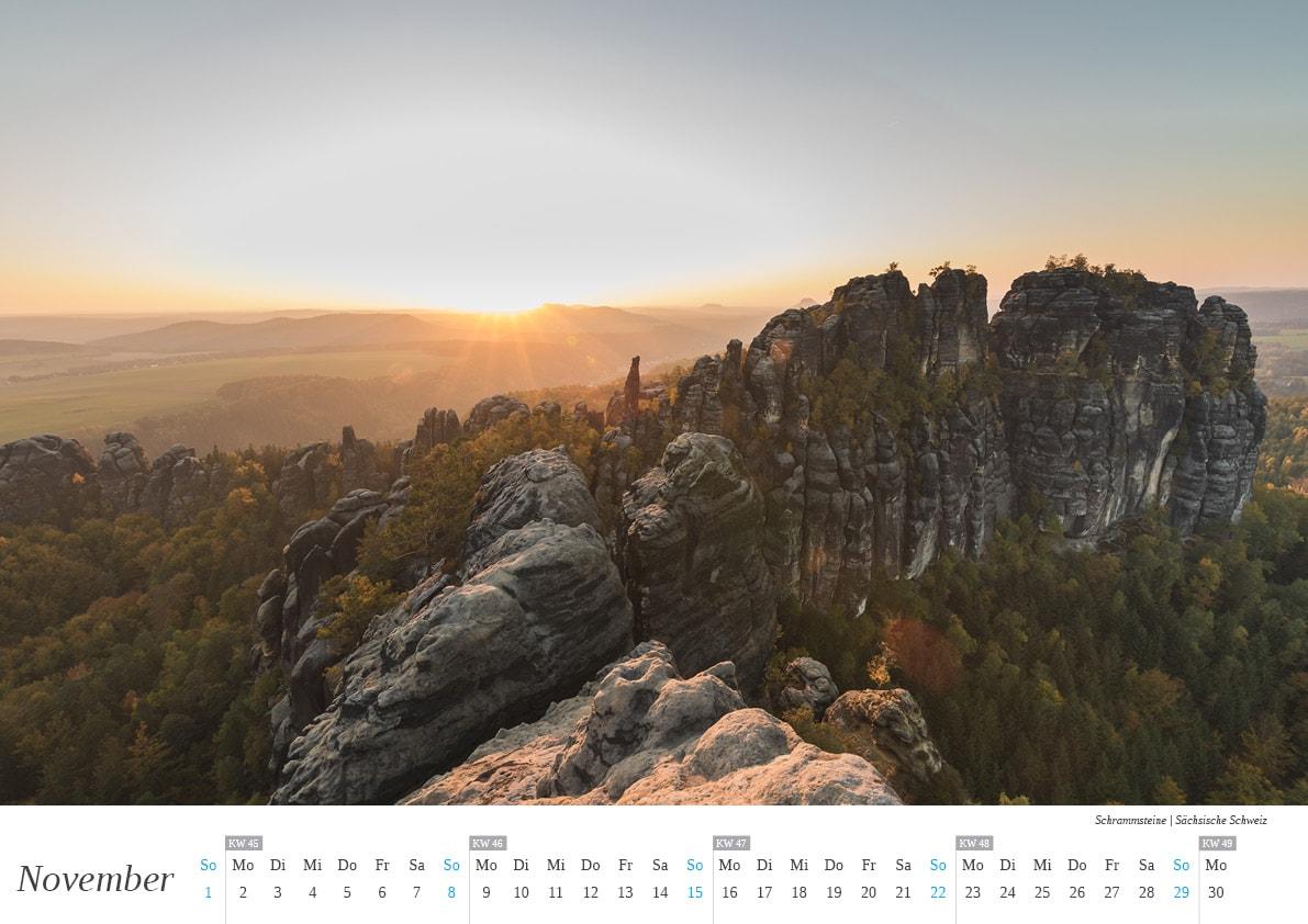 Kalender Sächsische Schweiz - November