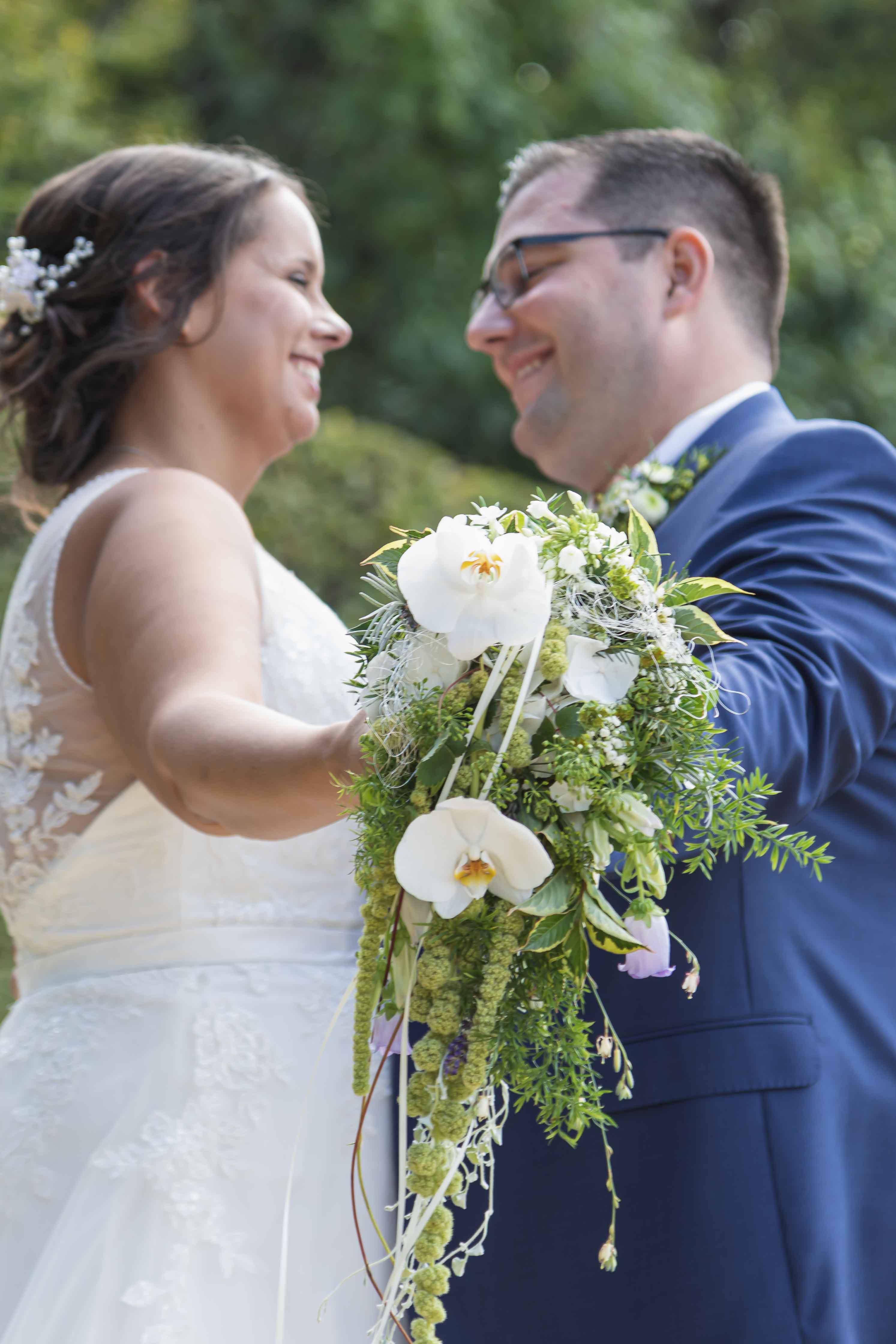 Hochzeitsstrauß Hochzeitsfotograf Barockgarten Großsedlitz