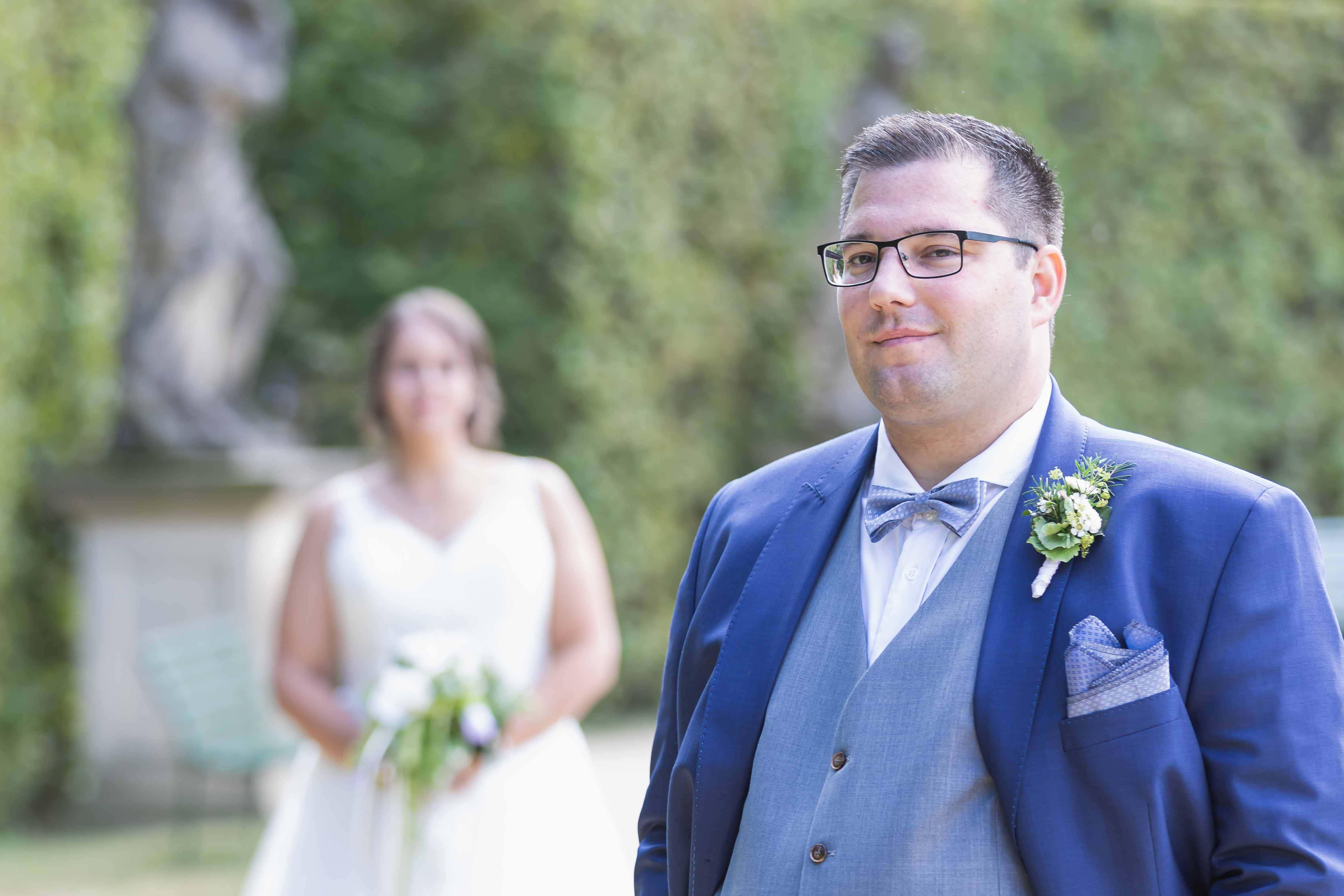 Fotoshooting Hochzeit Barockgarten