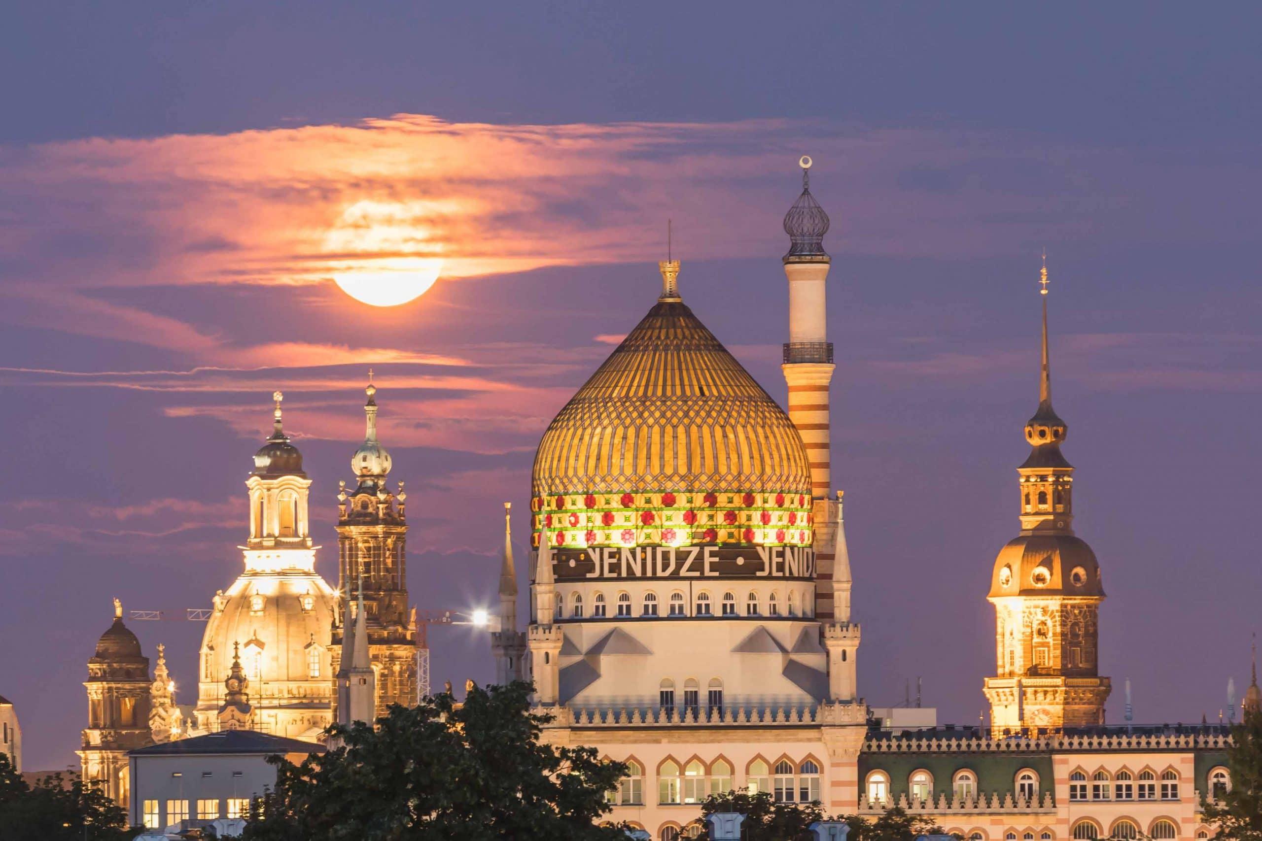 Dresden - Mondaufgang