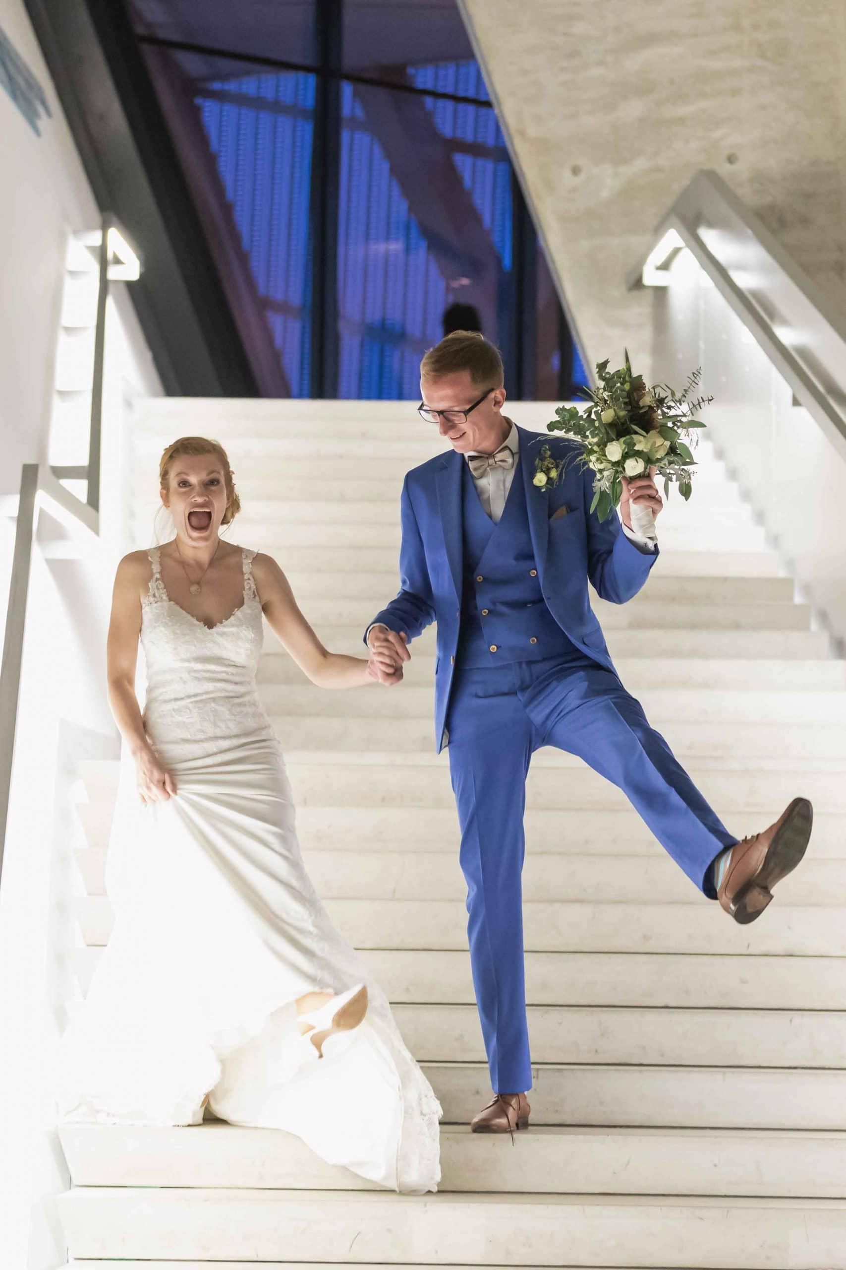Brautpaarshooting und Spaß haben